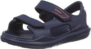 Crocs 卡駱馳兒童 Swiftwater 遠征涼鞋 | 易穿水灘和泳池鞋