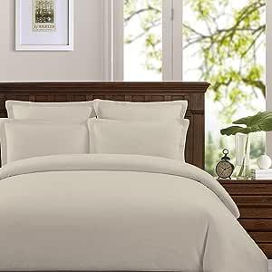 Echelon Home LIN Q-DUV EGG 水洗比利时亚麻羽绒被套套装 白色 石色 King LIN K-DUV STO