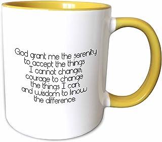 3dRose 马克杯 黄色/白色 15oz mug_195667_13
