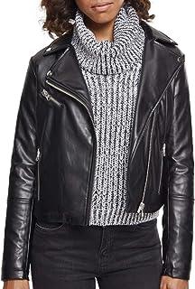 Urban Classics 女性 - 人造 皮革 Biker 夹克 黑色