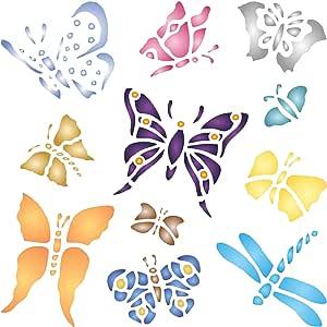 蝴蝶模板,造型化昆虫蝴蝶模板 L BB1452L