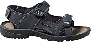 Co-Xist 男士凉鞋 河边徒步运动 魔术贴绑带 PU 皮革凉鞋 男式