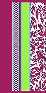 Northpoint Home Luau Beach Towel, Purple Zebra