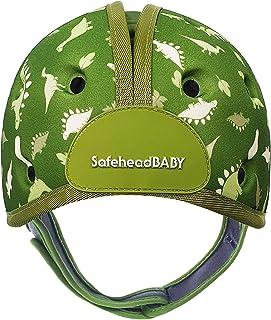 SafeheadBABY 婴儿学习步行软头盔 恐龙绿