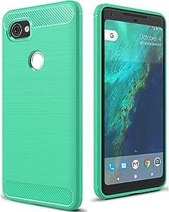 谷歌 Pixel 2 XL 手机壳,LFYH 线画减震抗划伤柔软保护壳适用于 Google Pixel 2 XL 绿色