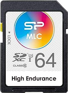 【Amazon.co.jp限定】【Amazon.co.jp限定】 硅胶动力SD卡 Class10 UHS-1 传输速度 85MB/s 终身保修SP064GBSDXMU3W10JA 64GB (高耐久MLC)