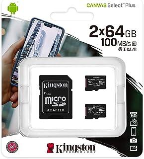 Kingston Canvas Select Plus microSD 卡SDCS2/64GB-2P1A Multi-Packs of 2 x cards 64 GB