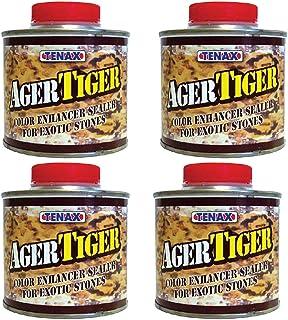 Tenax Tiger AGER 色彩增强花岗岩密封剂,大理石和石材密封剂 - 1/4 升 sealer 4片装
