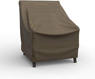 Budge P1A02BTNW3 NeverWet Hillside 庭院椅套,高级,户外,防水,超小号,黑色和棕褐色编织