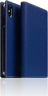 "SLG Design iPhone XS Max 壳 手册式 真皮 皮革 Full Grain Leather Case *蓝 6.5"" 苹果 盖 支持无线充电【日本正规代理店商品】 SD15479i65"