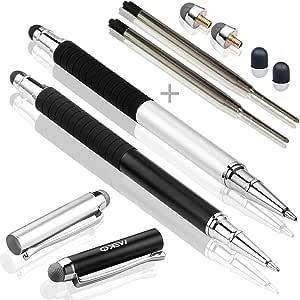 MEKO 2 合 1 纤维手写笔和圆珠笔 - 黑色/银色MK02BS 3 in 1 Black&Sliver
