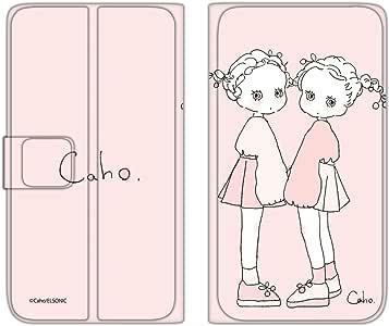 caho 翻盖保护套超薄翻盖印花柔软手机保护壳翻盖式适用于所有机型  ふわふわA 4_ AQUOS * 306SH