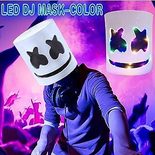 LED 面具 - 万圣节 DJ 面具 发光 音乐节 全头 角色扮演服装 狂欢节 万圣节 道具 乳胶面具 / 4 种模式 发光 恐怖面具 万圣节 礼物 服装 派对 舞蹈 狂欢节 俱乐部
