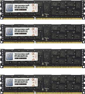V-Color 64GB(4 x 16GB)双列服务器内存条*DDR3 1866MHz(PC3-14900)ECC Registered DIMM,适用于 Apple Mac Pro 1.5V CL13 2Rx4 (TR316G18D413Q)