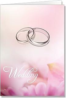 结婚订婚戒指粉色花朵祝贺卡 One Piece