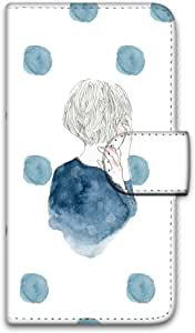 卡丽 壳 印刷手册 女童和圆点 智能手机壳 手册式 对应全部机型 女の子とドットA 1_ iPhoneSE