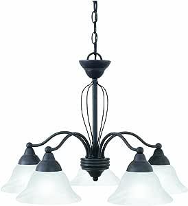 Thomas Lighting SL801811 Cortland 枝形吊灯,青铜花纹矿