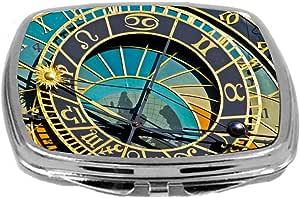 Rikki Knight 特写设计化妆镜,天文学时钟,3 盎司