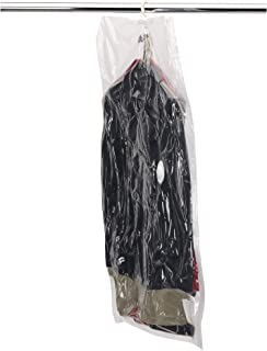 Household Essentials MightyStor Hanging Garment Vacuum Storage Bag for Suits, 43.3 by 27.6-Inch