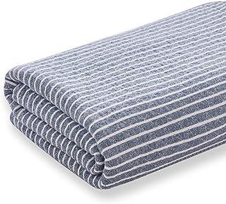 Kumori 纱布毯 毛巾毯 贴身盖毯 棉* 三层透气纱网 吸湿透气 可整体清洗 *、防臭、*加工 蓝色 ダブル・180X200cm SG-GZ-SZ-BL2