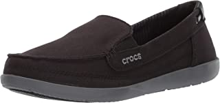 Crocs 女士 Walu 帆布乐福鞋