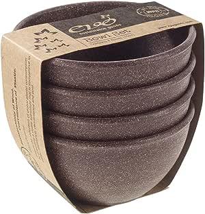 EVO 可持续用品 283.5 克 碗套装 深棕色 10 盎司 512