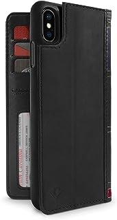 Twelve South BookBook for iPhone 6 Plus/6s Plus,黑色三合一皮革钱包外壳,展示支架 + 可拆卸外壳12-1814 iPhone XS Max 黑色