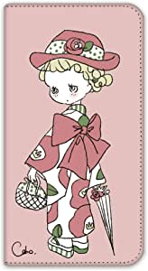 caho 保护套双面印花翻盖和服与花手机保护壳翻盖式适用于所有机型  着物と花A 13_ DIGNO ISW11K KYI11