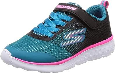 Skechers Go Run 400女童(小童/大童) 黑色/青绿色 1 M US 儿童