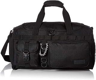 "Fitdom 小号运动健身行李袋,带大号运动鞋隔层。 适合锻炼、足球、篮球、排球和其他运动装备配件。 非常适合旅行、过夜和周末旅行时使用 黑色 20"" x 10"" x 10"""