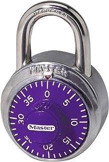 Master Lock 【正规进口商品】 拨号式挂锁 紫色 1514JAD