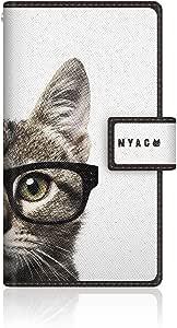 CaseMarket 【翻盖式】 Aquos 手机 ( SH ) / Phone CL ( is ) 超薄壳针脚模型 [ nyago 笔记本可爱眼镜脸猫 ] is13sh vcm2s2075