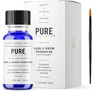 高级睫毛生长精华和眉毛增强剂,含生物素、城堡油、绿茶和泛克斯人参提取物,天然 DHT 阻塞剂和突破性生长刺激复合物,男女皆宜