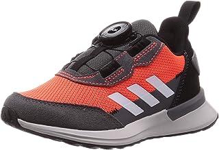 [阿迪達斯] 童裝輕便運動鞋 RapidaRun BOA K(GNH65) 太陽紅/鞋子白色/核心黑(EF9214) 21 cm
