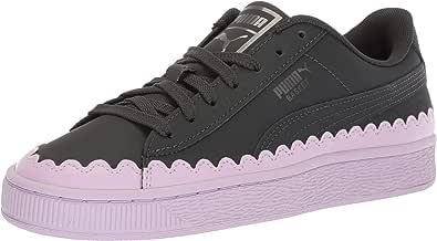 PUMA 女士 Basket Scallop 运动鞋 黑色(Puma) 5.5 M US