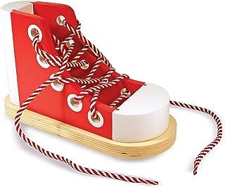Melissa & Doug 豪华木质系带玩具运动鞋