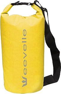 Eevelle 防水干燥袋,用于划船、露营和皮划艇 - 黄色防水袋防水5L/15L - 海洋级 黄色 15L