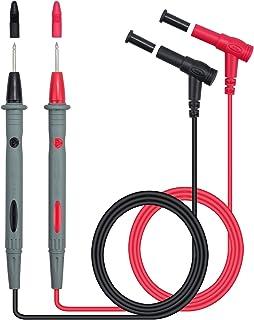 Neoteck 2 件 1000V/10A 专业电子测试引线套件 数字万用表测试引线探头万用表探头电缆线笔红色/黑色替换