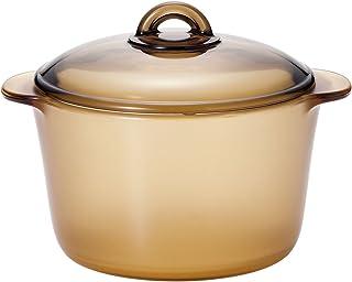 ADERIA 阿德利亚 Syla Bikufire 不粘锅 蒸锅 支持直火 耐热玻璃材质 琥珀色 3L K-9469