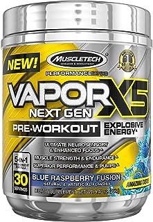 Muscletech Performance系列 Vapor X5,新一代锻炼前补充粉,紫蓝莓味,30份