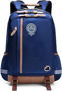 学生防水轻便书包,儿童小学书包,男孩用书包 深蓝色