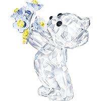 施华洛世奇克里斯熊 - Forget-Me-Not 雕像,水晶,多彩,浅色 4.5 x 2.6 x 3.7 厘米