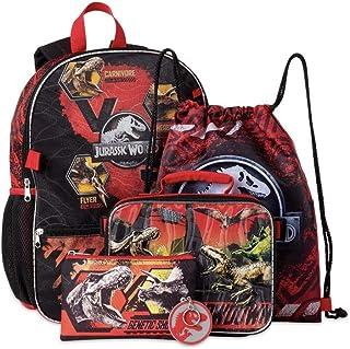 男孩侏罗纪世界红色背包 5 件套
