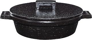 长谷制陶(Nagatani Seitou)土锅 黑色 1200毫升 长谷园 小饭馆土锅 黑色 NCK-01