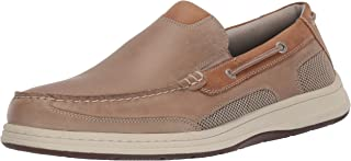 Dockers 男士 Tiller 皮革休闲一脚蹬乐福鞋船鞋带 NeverWet 灰褐色 灰褐色 7 M US