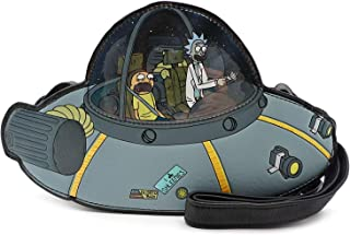 Loungefly Rick and Morty Spaceship 人造皮革斜挎包 灰色 标准