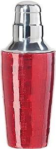 Oggi Mosaic 不锈钢冰晶鸡尾*瓶,22 盎司 红色 22 Ounce 9515.2