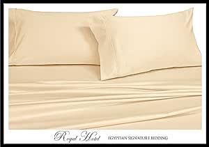 Royal Hotel 1000 支床单套件 * 棉,棉缎编织,深口袋 Solid Ivory Extra-Deep-Queen COMIN16JU047491