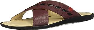 MARC JOSEPH NEW YORK 男式皮革巴西雪松沙滩凉鞋