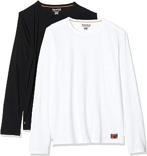 Superdry 极度干燥 男士 Laundry Slim Fit Ls T 恤 两件装 睡衣上衣